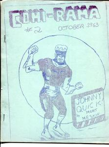 Comi-rama #2 RARE COMIC FANZINE! 1963-Johnny Quick-Super Chief FN