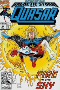 Quasar #34 VF; Marvel | save on shipping - details inside
