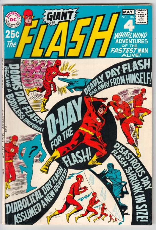 Flash, The #187 (May-69) VF/NM High-Grade Flash