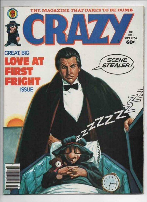 CRAZY #54 Magazine, VF, Vampire, Fantasy Island, 1973 1979, more in store