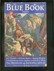 BLUE BOOK PULP-7/1934-AUSTIN BRIGGS ART-DARKTOWN STORY! G