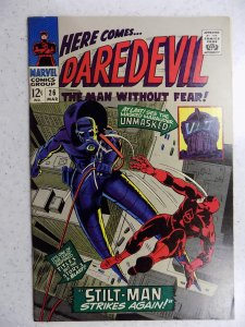 DAREDEVIL # 26 MARVEL SILVER FEAR ACTION ADVENTURE HI GRADE VF