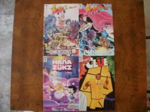 4 IDW Comic Book: JEM and the HOLOGRAMS #1 2 HANA ZUKI #2 CLUE #2