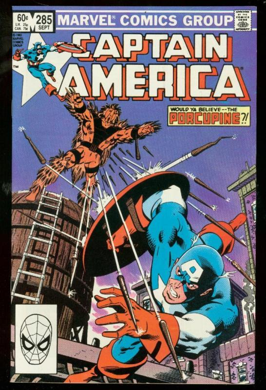 CAPTAIN AMERICA #285 1983-MARVEL COMICS-PORCUPINE VF