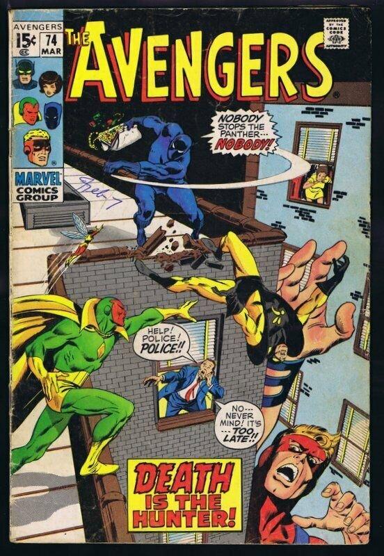Avengers #74 ORIGINAL Vintage 1970 Marvel Comics Sons of the Serpent