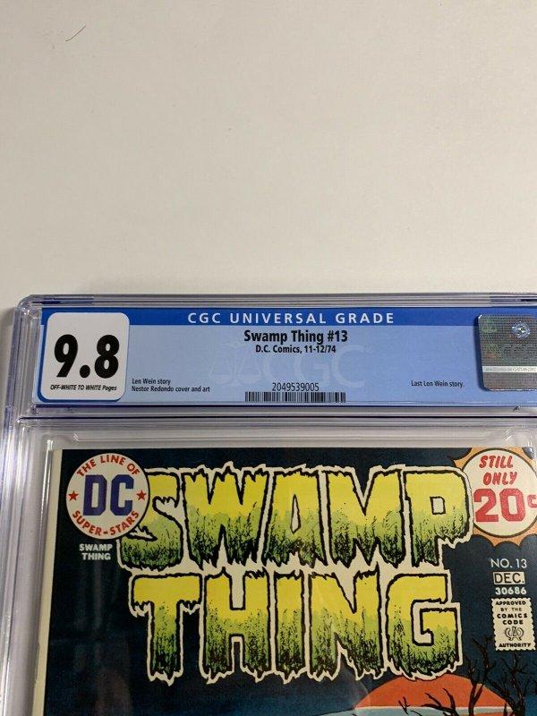 Swamp Thing #13 CGC graded 9.8