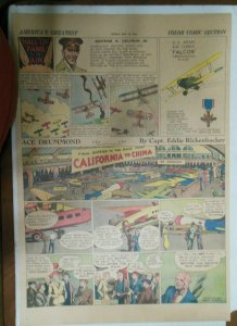 Ace Drummond Sunday by Capt Eddie Rickenbacker from 7/14/1935 Large Full Page !
