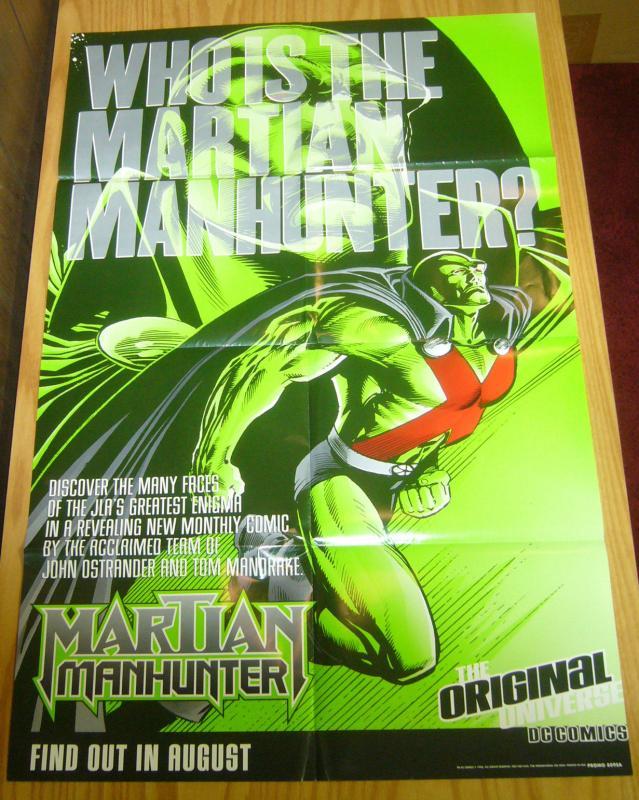 Martian Manhunter poster - promo 8095A - dc comics 1998 dc comics