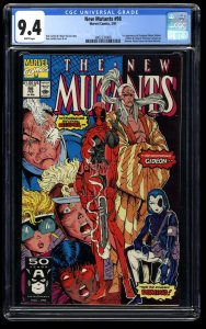 New Mutants #98 CGC NM 9.4 White Pages 1st Deadpool!