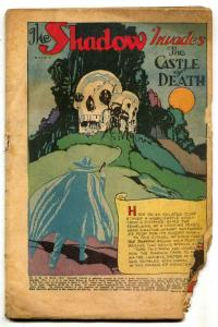 Shadow Comics v.4 #12 1945-Castle of Death- LOW GRADE
