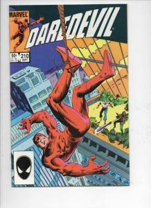 DAREDEVIL #210 VF/NM  Murdock, Without Fear, 1964 1984, more Marvel in store