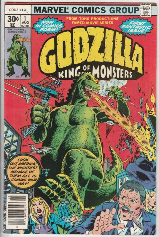Godzilla King of the Monsters #1 (Aug-77) VF/NM High-Grade Godzilla