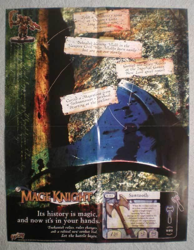 MAGE KNIGHT Promo Poster, 17x22, 2003, Unused, more Promos in store
