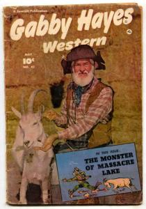 Gabby Hayes Western #42 1952-Young Falcon--FR/G