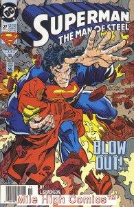 SUPERMAN: MAN OF STEEL (1991 Series) #27 NEWSSTAND Very Good Comics Book