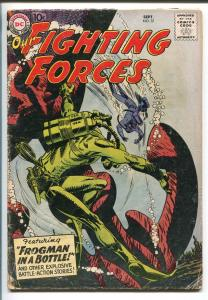OUR FIGHTING FORCES #37-1958-DC-FROGMAN COVER-11TH AIRBORNE DIVISION-vg minus