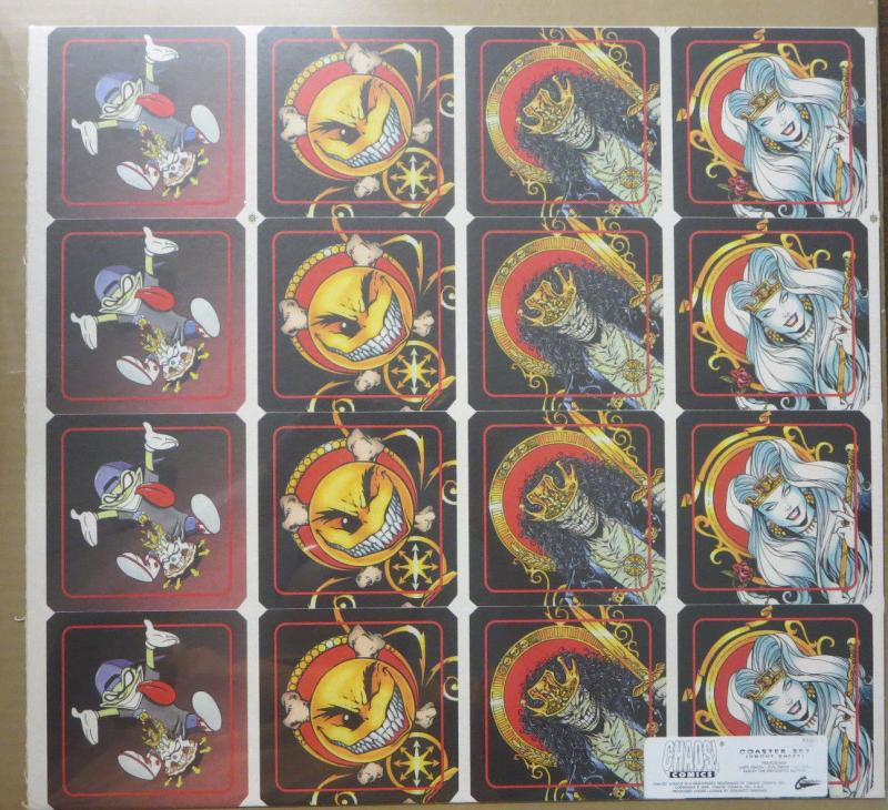 Chaos Comics! Coaster Set Uncut Sheet Feat. Evil Ernie Smiley Lady Death