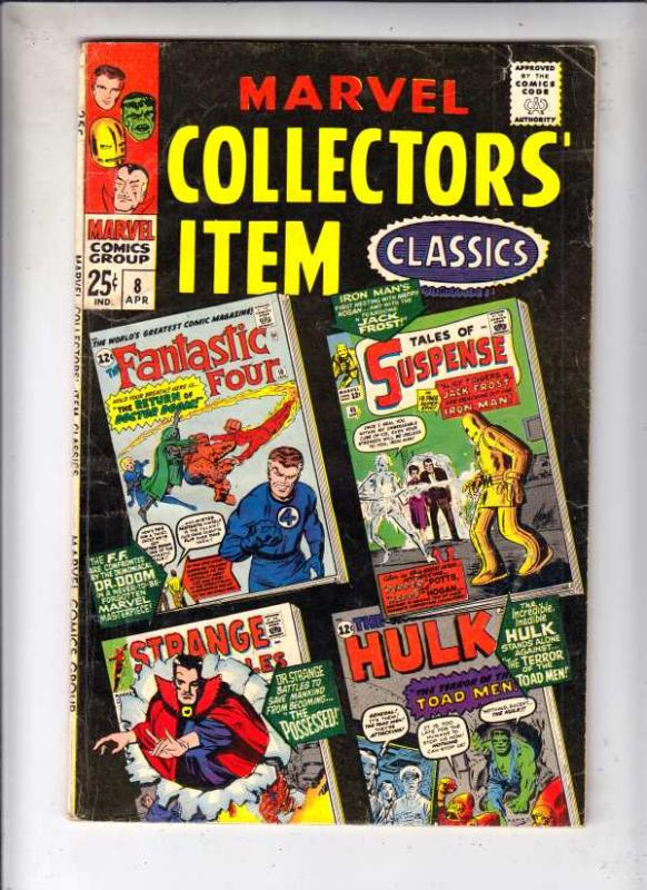 Marvel Collectors' Item #8 (Apr-67) VG Affordable-Grade Fantastic Four, Mr. F...