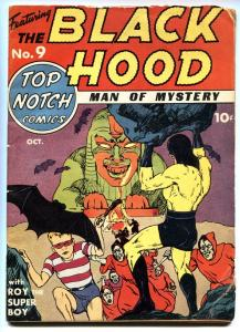 Top Notch Comic #9-1940-First appearance of BLACK HOOD-Scarce in guide-MLJ