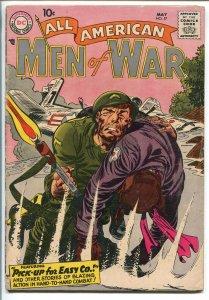 ALL-AMERICAN MEN OF WAR #57-1958-WWII-DC-SILVER AGE-EASY CO-FROGMAN-HEATH-vg+