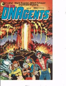 Lot Of 5 New DNAgents Eclipse Comic Book #5 6 7 9 11  BH50