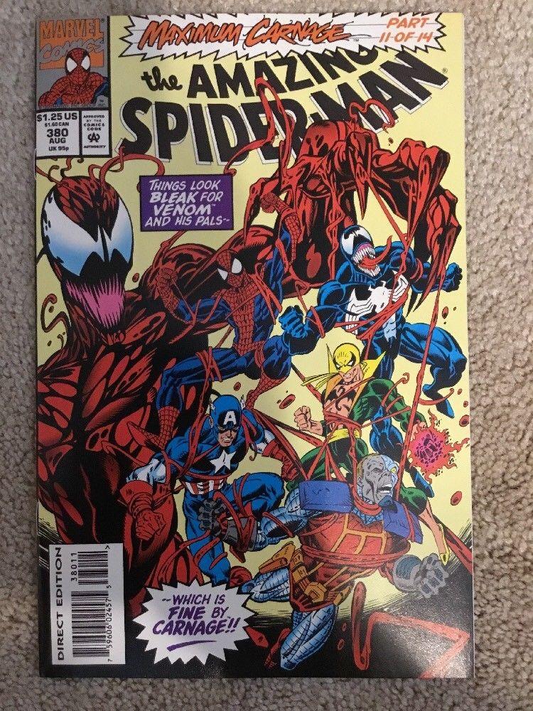 Marvel Maximum Carnage Part 11 Amazing Spider Man 380 Hipcomic