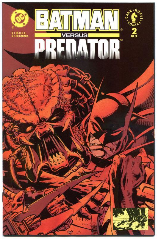 BATMAN  vs PREDATOR #2, NM+, Claws, Laser, 1st series, 1991, more in store