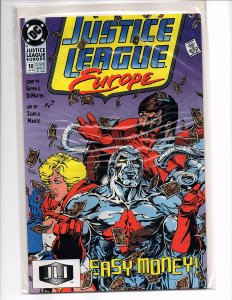DC Comics Justice League Europe #10 Flash, Power Girl, Giffen Story Sears - Art