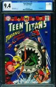 TEEN TITANS #11 cgc 9.4 comic book 1967 Robin Wonder Girl 2039575001