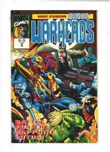 Warheads #7 VF+ 8.5 Marvel UK Comics 1992 vs. Death's Head II