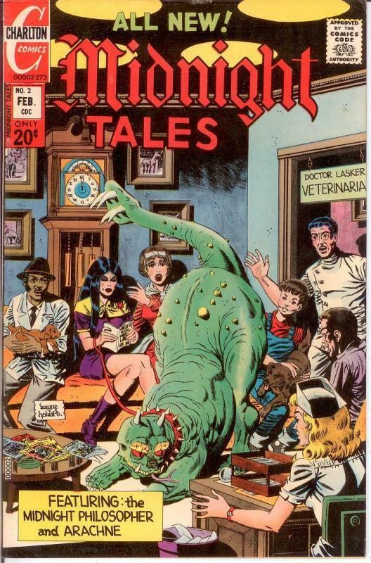 MIDNIGHT TALES 2 F+ Feb. 1973 COMICS BOOK