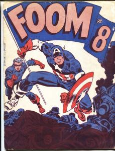 FOOM fanzine #8 1974- captain america john romita marvel comics G