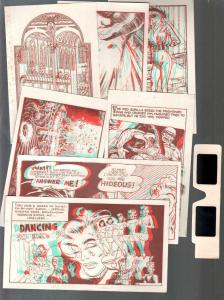 3-D Zone Post Card Set with 3-D Glasses 1980's-Ray Zone-7 postcards-VF