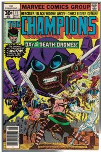 CHAMPIONS 15 VG-F Sept 1977 Hercules,Black Widow, Angel