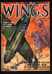 WINGS PULP-APR 1943-INDIAN WARRIOR CVR-FICTION HOUSE FN-