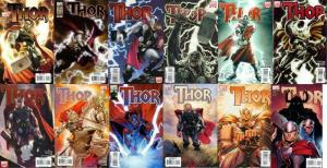 THOR (2007) 1B-8B,9-12 COMPLETE! VARIANT COVER VERSIONS
