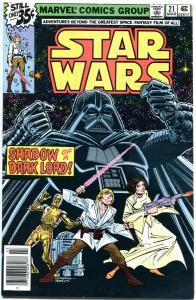 STAR WARS #21, VF/NM, Luke Skywalker, Darth Vader, 1977, more SW in store