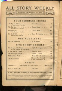 All-Story Weekly 1/17/1920-Pulp stories-Victor Rousseau-James A Hendryx-Octav...