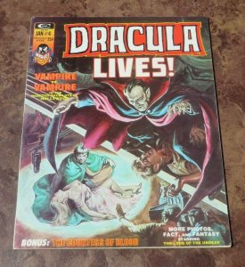 Dracula Lives #4 VF 1974 Horror Magazine Vampire Vs Vampire Haunted Hollywood