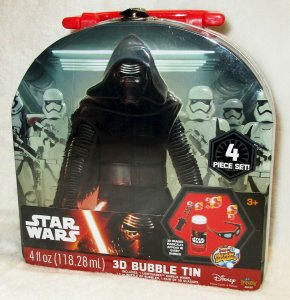 Star Wars 3D Bubble Tin | Lightsaber Wand | Bubbles | 3D Glasses | New/Sealed!