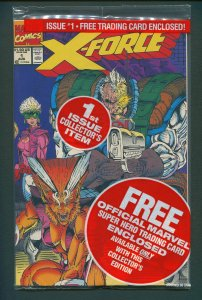 X-Force #1  (Poly-Bagged w/Cable Card) NM+/  August 1991