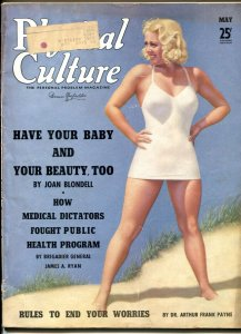 Physical Culture May 1939- Joan Blondell- Cheesecake VG