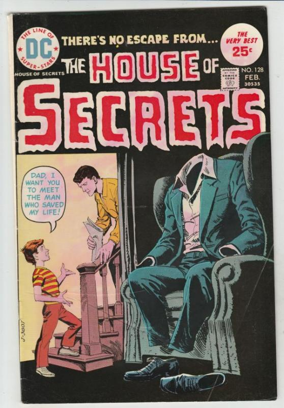House of Secrets #128 (Feb-75) FN/VF Mid-High-Grade
