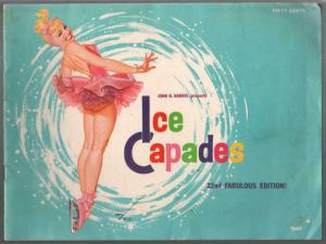 Ice Capades Program Book 1964-Georg petty pin-up girl cover-VG