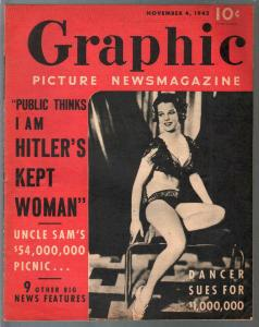 Graphic Picture Newsmagazine 11/4/1942-Hitler's Kept Woman-exploitation-scandal-