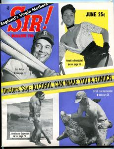 Sir! Magazine June 1956- Abominable Snowman- Pierrette Corocher