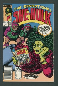 She-Hulk #2  / 9.6 NM+ - 9.8 NM-MT  Newsstand  June 1989
