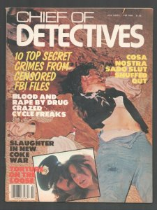 Chief of Detectives-Fall 1980-Murder scene cover-Drug Crazed Cycle Freaks-vio...