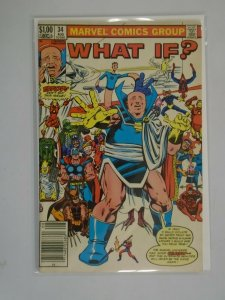 What If? #34 Newsstand edition 4.0 VG (1982 1st Series)