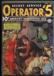 OPERATOR #5 3/1937-POPULAR-PATRIOT'S DEATH MARCH-FILE COPY-BOUND BABE-fn+